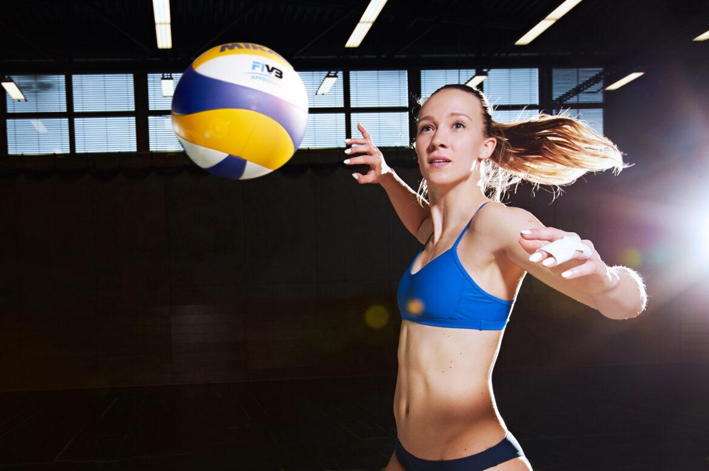 Sandra Ittlinger Fotoshooting Ealstus-Sport Beachvolleyball
